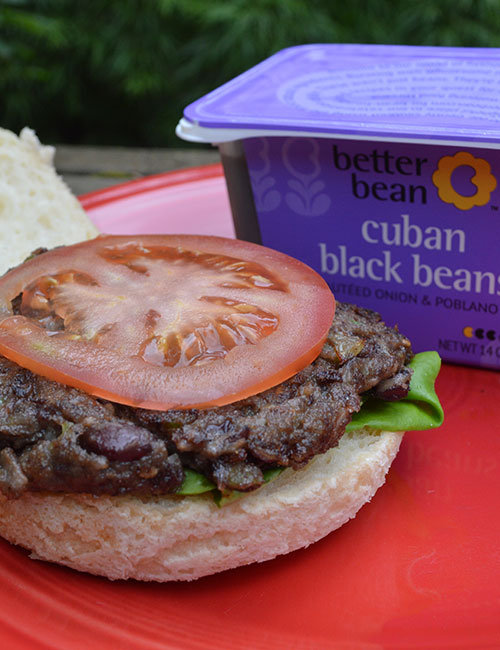 Cuban Black Bean Burger