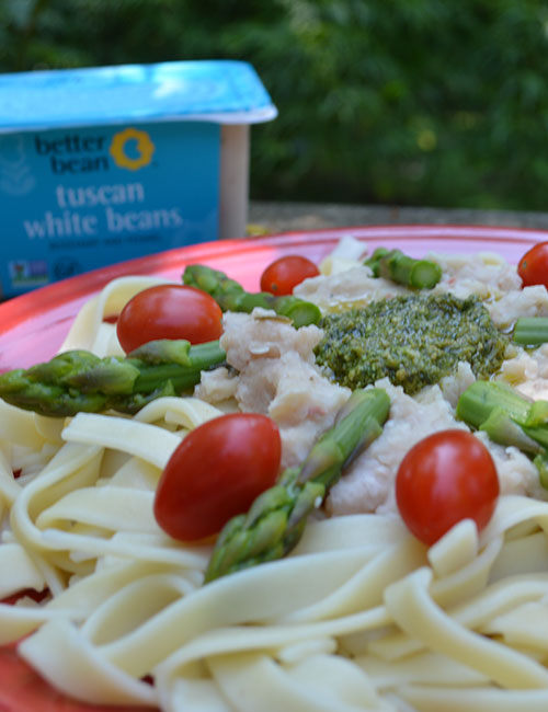 Tuscan White Bean Pesto Pasta