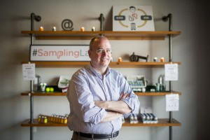 Jeff Davis, a marketing consultant, founded SamplingLab after hearing from food industry clients the tricky task of amassing consumer research. PHOTO: LEAH NASH FOR THE WALL STREET JOURNAL