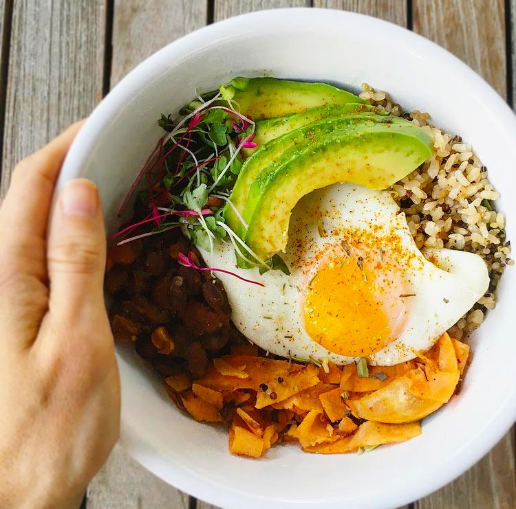 cozy chili egg bowl